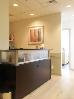 Reception Desk – Welcome!